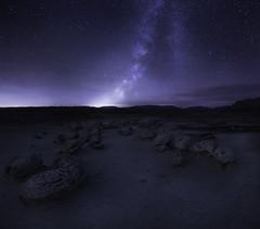 (maknsandwiches) Tags: night sky milkyway milky way stars light glow alien egg eggs factory cracked rocks rock dirt new mexico nm bisti badlands landscape canon tamron blue