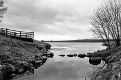 To stray from the path and sit a while (Richie Rue) Tags: nikonf90 foma fomafomapan100 champion promicrol dam reservoir inlet lake water stones yorkshire dales northern landscape monochrome blackandwhite bnw intimatelandscape contemplation mindfulphotography ishootfilm istillshootfilm filmsnotdead fineart outdoors