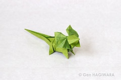 えりまきとかげ / Frilled-necked lizard (Gen Hagiwara) Tags: origami paper folding papercraft craft art reptile frill lizard genhagiwara