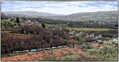 Passing Through Trelewis (Welsh Gold) Tags: 66570 4c94 east usk junction cwmbargoed coal empties train trelewis deepnavigationcolliery taffbargoedvalley southwales