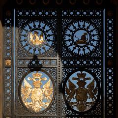 Gate coats of arms | Blenheim Palace | Feb 2019-76 (Paul Dykes) Tags: woodstock unitedkingdom england gb uk blenheimpalace johnvanbrugh englishbaroque duke marlborough churchill