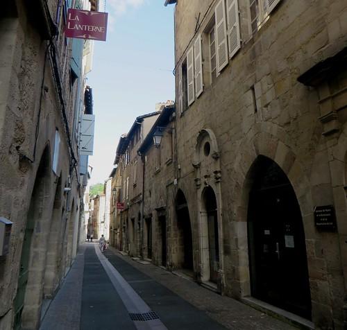 Dans les rues de Figeac, Quercy, Lot, Occitanie, France.