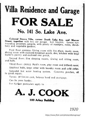 Villa for sale 141  south lake and Mercer   1920 (albany group archive) Tags: 1920s old albany ny vintage photos picture photo photograph history historic historical