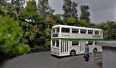 Eastern Leyland Atlantean at the Turning Circle. (ManOfYorkshire) Tags: eastern national nbc bus company leyland atlantean dinky toys model scale 176 oogauge turningcircle busterminus terminus route97 hexton hemston detailed painted