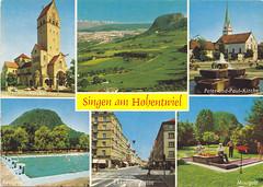 Postkarte/  Deutschland (micky the pixel) Tags: postkarte postcard ephemera multiview deutschland germany singenamhohentwiel kirche church herzjesukirche peterundpaulkirche ekkehardstrasse kegelberg hohentwiel hegau badenwürttemberg