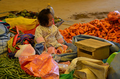 future vendeuse Bolivie_2373 (ichauvel) Tags: bébé baby fillette littlegirl assise sitting marché market légumes vegetables carottes carots marchédetarabuco bolivie bolivia amériquedusud southamerica amériquelatine voyage travel dimanche sunday couleursvives mignonne cute lovely adorable