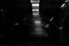 Le rayon (cactus2016) Tags: graffiti abandon friche urbex noiretblanc blackandwhite clairobscur stairs escaliers