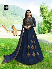 Navy Blue Designer Anarkali Salwar Suit Online On #YOYOFashion.. (yoyo_fashion) Tags: style fashion dresses suits shopping offers womenwear eidspecialdress designerdress look lookbook womenwearsuit bridalwear ethnicwear indianwear offer indianfashion