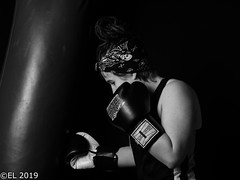 Girl boxer (eba5684) Tags: boxer boxing girlboxer sport blackandwhite martialarts portrait boxe fitboxing thaiboxing kickboxing art softbox fighter mma black people bw woman mono nikkor nikon d750