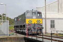 Irish Rail 071 at Rosslare. (Fred Dean Jnr) Tags: iarnrodeireann rosslare fishguardrosslarerailway irishrail generalmotors 071class locomotive 071 turntable rosslareeuroport wexford june2013