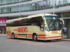 Andrews of Tideswell J10AOT 21102018a (Rossendalian2013) Tags: andrewsoftideswell coach volvo b12b plaxton panther j10aot yn58chc railreplacement bus manchester piccadilly railway station arrivarailnorth northern