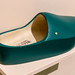 Dutch-made wooden shoes in petrol green from Weltevree
