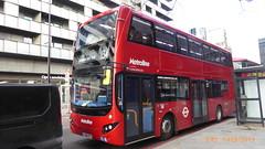 P1140873 VMH2541 LF68 PXT at Warren Street Station Hampstead Road Euston London (LJ61 GXN (was LK60 HPJ)) Tags: metroline volvob5lhybrid mcvevoseti mcv evoseti 105m 10490mm vmh2541 lf68pxt nb919