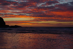 3K005714a_C (Kernowfile) Tags: pentax cornwall cornish sea water reflections sky clouds cliffs waves rocks poldhucove thelizardpeninsula sunset sunsetlight pentaxforums