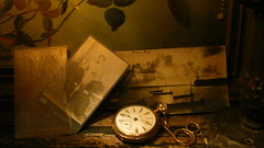 Legacy (Rand Luv'n Life) Tags: odc our daily challenge antique cabinet photograph missionaries lamon bay philippines sepia harbor scene tall ship pocket watch legacy time chain oil painting background indoor amber diffused lighting package envelope smileonsaturday shadesofbrown