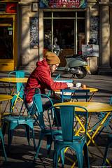 Colourful Bath (zolaczakl) Tags: bath cityscenes photographybyjeremyfennell people figures candid 2019 jeremyfennellphotography february uk england somerset nikond800 nikonafsnikkor50mmf18glens nikonafsnikkor24120mmf4gedvrlens colourful tables westgatestreet chairs lightshadow