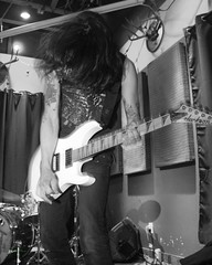 Adrenochrome, The Fixin' To, St Johns, OR, 2-22-2019 (convertido) Tags: black white photography concert fixin to st johns or punk rock synth crust postpunk post goth dark wave australia pac nw