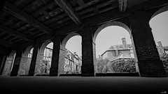 La halle (Un jour en France) Tags: halle noiretblancfrance noiretblanc monochrome place rue street rust village gerberoy canoneos6dmarkii canonef1635mmf28liiusm ombre lumière architecture