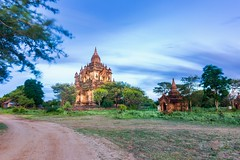 Tha Beik Hmauk Gu Hpaya Pogoda in Myanmar (Bobby Tran 2012) Tags: pagoda myanmar landscape traditional travel tourist famous favorites bagan wind cloudy temple brick