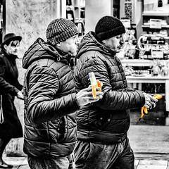 Banana Brothers... (mikeback-streetphotography) Tags: streetstyle streetphotographer streetarteverywhere streetportrait streetphotographystreet streetlife streetphoto streetartistry street streetphotography streetphotographers urban stockholm sweden colorsplash splash