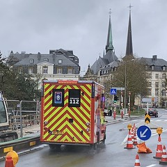 Emergency Ambulance - Luxembourg City (firehouse.ie) Tags: notredamecathedral notredame cgdis fd fire bf8515 luxembourgcity luxembourg ambulanza ambulanz ambulans ambulansa ambulancia vehicles vehicle emergency ems mercedessprinter mercedesbenz mercedes ambulances ambulance