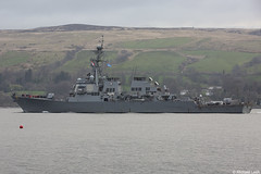United States Navy Arleigh-Burke-class destroyer USS Porter, DDG-78; Gare Loch, Firth of Clyde, Scotland (Michael Leek Photography) Tags: warship unitedstatesnavy unitedstatesofamerica usn ddg argyllandbute argyll arleighburkeclass destroyer nato natoexercise workingboat workboat gareloch hmnbclyde hmnb hmsneptune clyde firthofclyde westcoastofscotland westernscotland guidedmissiledestroyer scotland scottishlandscapes scottishcoastline scottishshipping navalvessel natowarships michaelleek michaelleekphotography