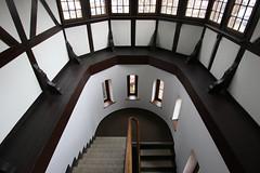 13 windows (Elbmaedchen) Tags: staircase treppenhaus steps treppe stairwell architecture architektur fehmarn rathaus escaliers escaleras