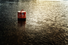 TP 2 (Alfred Grupstra) Tags: water nauticalvessel sea nopeople river outdoors red reflection transportation colorimage buoy