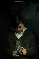 A new talent in town (marcello.machelli) Tags: talent camera rolleiflex nikon d810 nikond810 portrait ritratto kid child boy ragazzino bambino photographer fotografo light luce chiaroscuro oldfashion