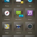 スマートフォンユーザーインターフェースの写真