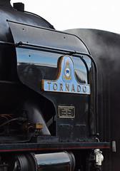 60163 Tornado - Right Smoke Deflector (simmonsphotography) Tags: railway railroad nenevalley heritage preservation locomotive engine train steam uksteam 60163 tornado peppercorn a1 lner pacific newbuild nameplate smokedeflector wansford