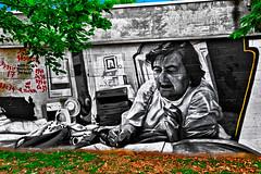 Mural dedicated to the memory of the poet Alda Merini (Marco Trovò) Tags: marcotrovò hdr canong1x milano italia italy città city strada street edificio building naviglio waterway graffiti murale mural aldamerini