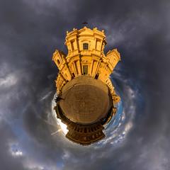 Basilica di San Nicolo (HamburgerJung) Tags: sizilien sicily sicilia noto panorama pentaxk3 da1017 freihand freehand kirche kathedrale planet stereographic littleplanet