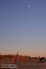 Sunrise, moon set (lauren3838 photography) Tags: laurensphotography lauren3838photography landscape beach moon sunrise sand seaside atlanticocean ocean delaware de capehenlopenstatepark park fence nikon d750 tamron2875mm28 tamron lewes tourism