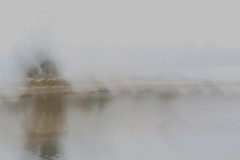 ICM 2019 1 #17 (haywoodtaylor) Tags: beach minimalist icm blur sea coast intentionalcameramovement sky mist water ocean lakeside grass tree
