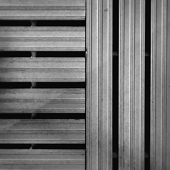 day 17 (Randomographer) Tags: project365 lines stripes metal abstract texture bright minimalism square composition aluminum vertical horizontal 17 2019 minimal black white monotone
