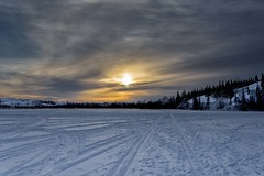 Northern skies (JD~PHOTOGRAPHY) Tags: sunrise yellowknife northwestterritories canadasnorth northern northerncanada frozenlandscapes beautifulskies landscapes frozen canon canon6d