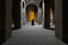 Inside Iran - II (Marsel van Oosten) Tags: squiver marselvanoosten iran middleeast historicalbuilding mosque islam muslim traditional building architecture travel photography phototour workshop award pillars tiles structure heritage culture