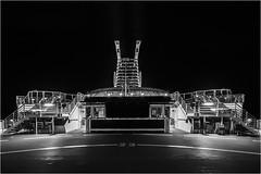 Nachtfalter (Panasonikon) Tags: nikond7100 sigma1020 bw sw nacht night schiff fähre weitwinkel menschenleer panasonikon colorline