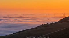 Wind Tube, Fog and Hills (Jaykhuang) Tags: lowfog livermore windmill windtube rollinghills trivalley eastbay california bayarea jayhuangphotography sunrise