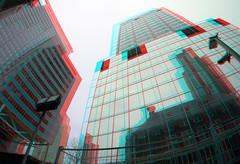 Hoogbouw Rotterdam 3D (wim hoppenbrouwers) Tags: hoogbouw rotterdam 3d anaglyph stereo redcyan coolosingel blaak
