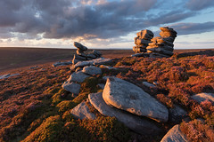 The Rocking Stones (Paul Newcombe) Tags: rockingstones peakdistrict crowstonesedge uk landscape england derbyshire peaks heather summer latesummer moors moorland rocks geology formation sandstone gritstone sunset sidelight paulnewcombephotography
