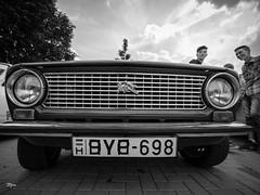 A car named desire (un2112) Tags: laowa sülysáp streetphotography streetphoto car lada zsiguli hungary blackandwhite bw monochrome gx80 boy kids men summer august