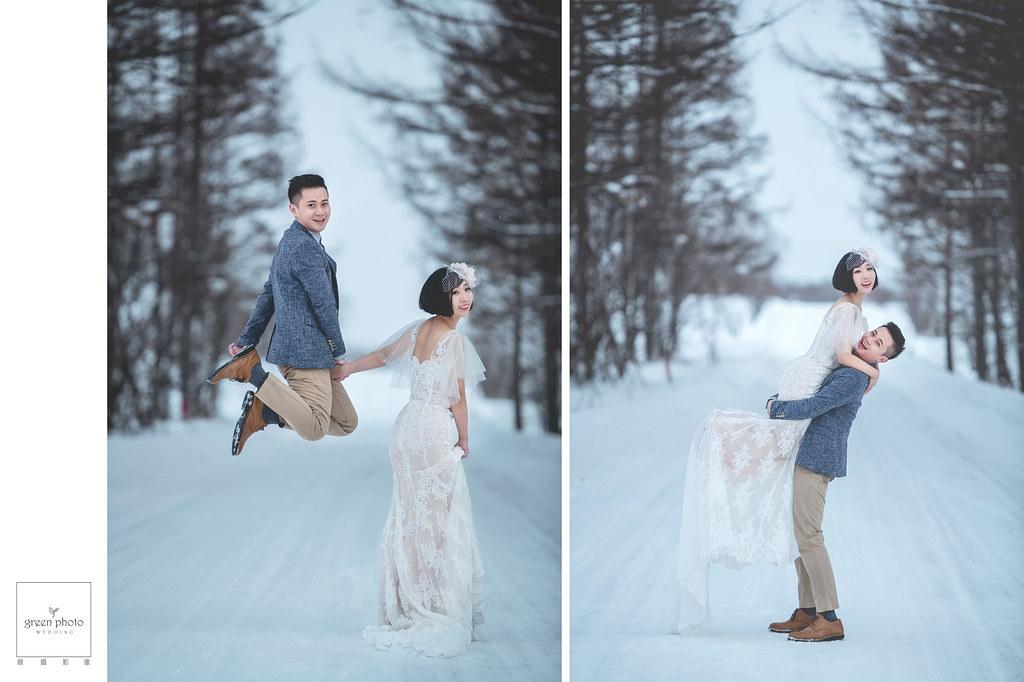 海外婚紗|北海道婚紗|雪地婚紗