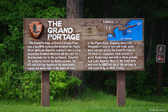 Interpretive board at Grand Portage National Monument (FlappinMothra) Tags: grand portage national monument voyageurs north west company fur trade history minnesota minn mn pentax ks2 photography