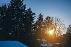 winter light (viewsfromthe519) Tags: sunset evening winter february stthomas ontario canada trees sun sunlight snow blue