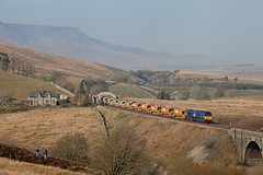 Long Shot (Richie B.) Tags: north yorkshire lunds 6k05 drs direct rail services emd general motors class 66 66302 settle and carlisle railway