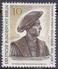 Deutsche Briefmarken (micky the pixel) Tags: briefmarke stamp ephemera deutschland bundespost berlin kunst art büste bust conratmeit bildhauer sculptor