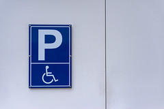 Disabled Parking Only (Korbinian Schellenbaum) Tags: photography nikon d800 50mm parking disabled sign schild architecture architektur scene szene street strase structure struktur abstract