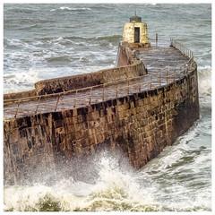 Portreath Harbour Wall (deannno) Tags: portreathharbour portreath cornwall uk waves stormy micro43 mft olympuspenf penf olympus helios44mf2